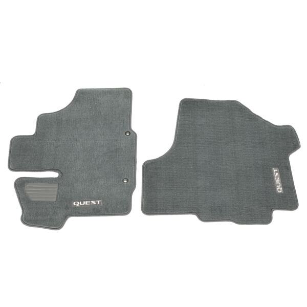 2004-2006 Nissan Quest Gray Carpeted Floor Mats 4 Set Front Middle Rear OEM NEW