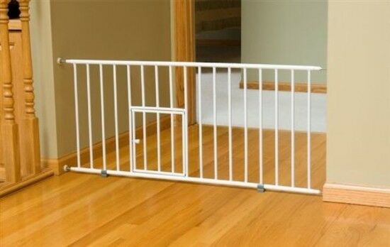 Pet Dog Gate Puppy Cat Door Expandable Barrier Animal Fence Indoor Safety Lock $38.71