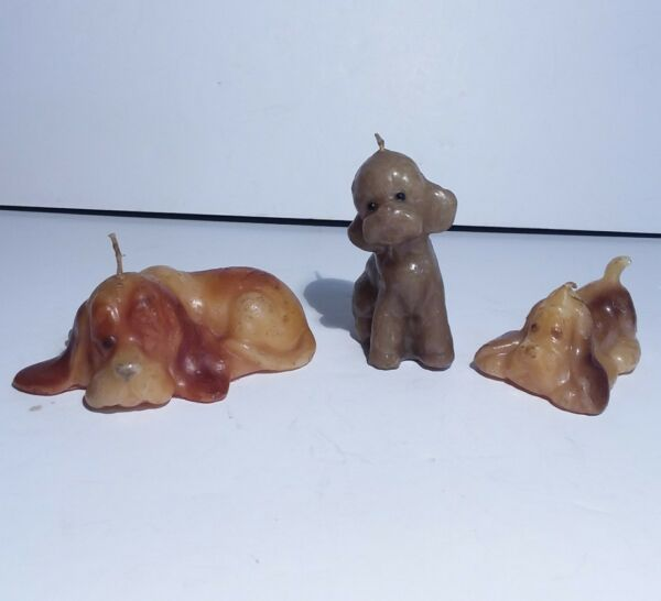 Dog Shaped Candles Lot Of 3 $9.99