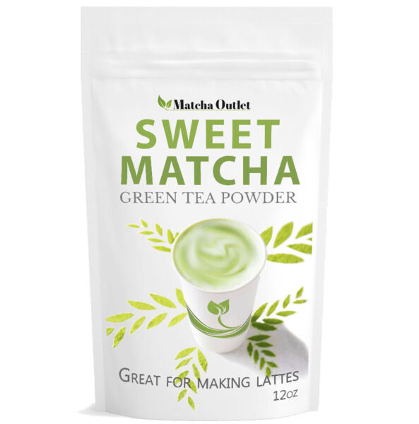 Matcha Outlet Sweet Green Tea Powder (16oz) Free 1-3 Day USA Shipping