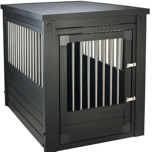 End Table Dog Crate Pet Kennel Cage Indoor Wooden Furniture Wood House