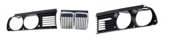 BMW 3 - Series E30 front Grille SET (Left + Right + Center) 1982 - 1990