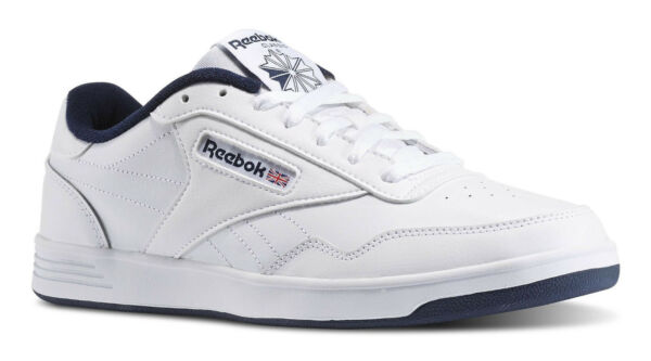 Reebok Classic Club Memt Lifestyle White Navy Mens Sneakers Tennis Shoes