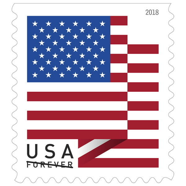 USPS New US Flag 2018 Coil of 100
