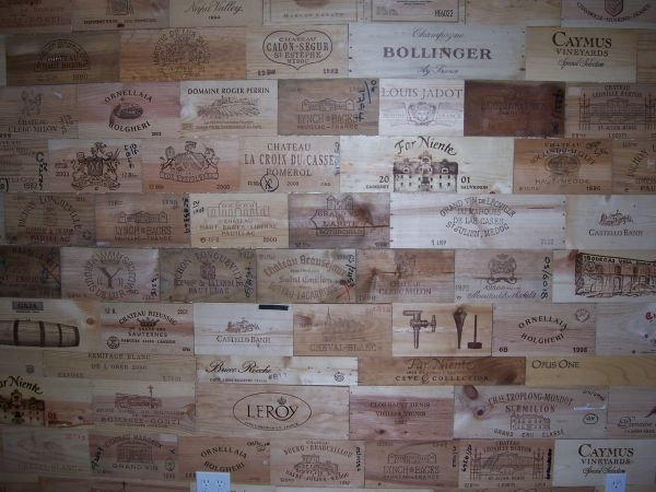 30 Assorted BRANDED WOOD WINE PANELS  CRATE  Box SIDE  Different Sizes