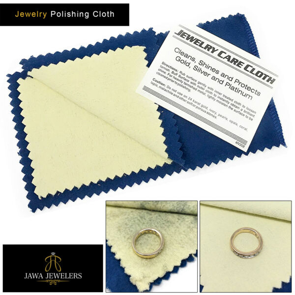 New Jewelry Cleaning Polishing Cloth Clean Shine & Protects Silver Gold & Brass