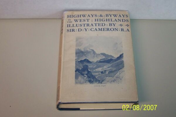 Highways & Byways in the West Highlands Seton Gordon hardcover U.K English 1935
