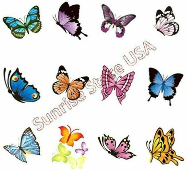 Nail Art Water Transfer Stickers Butterfly Decals Manicure DIY Decoration