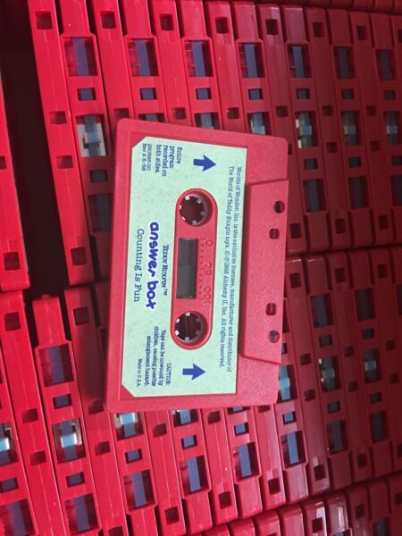 Teddy Ruxpin Cassette Tapes NOS (500 Tapes) brand new in master case.