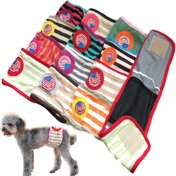 PACK of Dog Diapers RANDOM Colors Male Boy BELLY BAND Wrap For Small Dogs XXS L $10.99