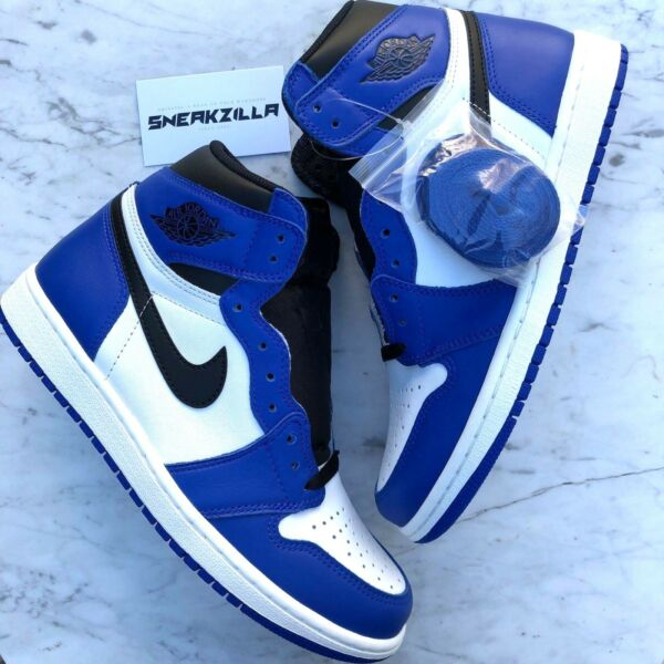 Nike Air Jordan Retro I 1 High OG GAME ROYAL White Blue 555088-403 Sz 4y-13