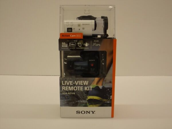 Sony HDR-AZ1VR Camcorder White Mini POV Action Cam w/ Live View Remote HDRAZ1VR