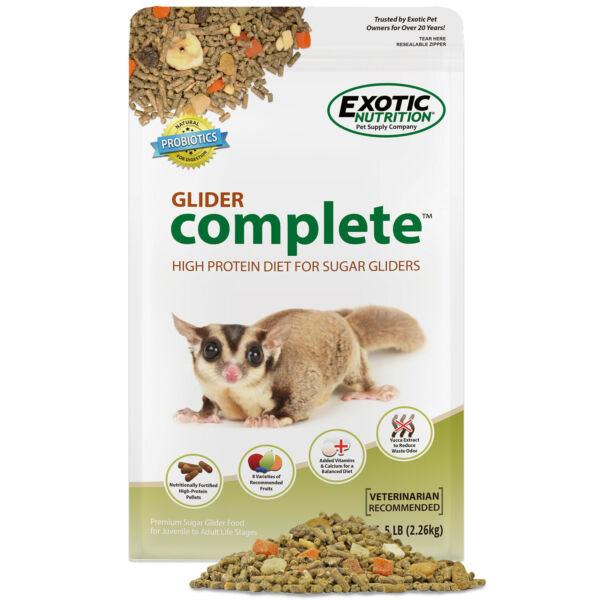 Glider Complete 5 lb. All Natural High Protein Healthy Sugar Glider Food $43.99