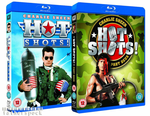 HOT SHOTS 1 & 2 Part Deux [Blu-ray Set] (1991 & 1993) Charlie Sheen Movies Rambo