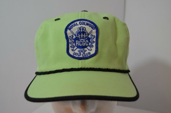 VTG Royal Colwood Golf Club Hat Sports Sea Green Texace Made in USA Retro