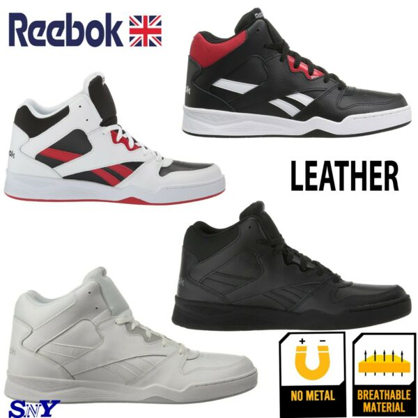 Reebok High-Top Basketball Leather Shoes Motion Control shoe ankle  sneakers