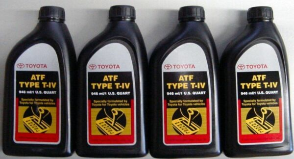 4 QUARTS of FACTORY OEM TOYOTA ATF T-IV AUTOMATIC TRANSMISSION FLUID OIL LEXUS