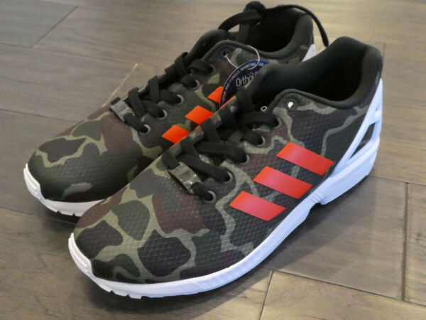 Adidas ZX Flux shoes sneakers trainers new Camo Camoflauge BB2176 size 9 mens