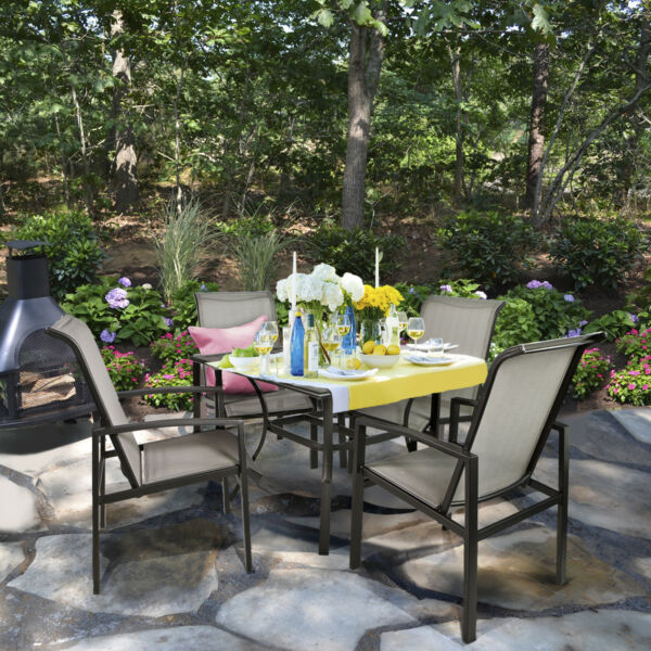 Barton 5 Piece Outdoor Patio Dining 1 Table and 4 Chairs Set Outdoor Furniture $329.95