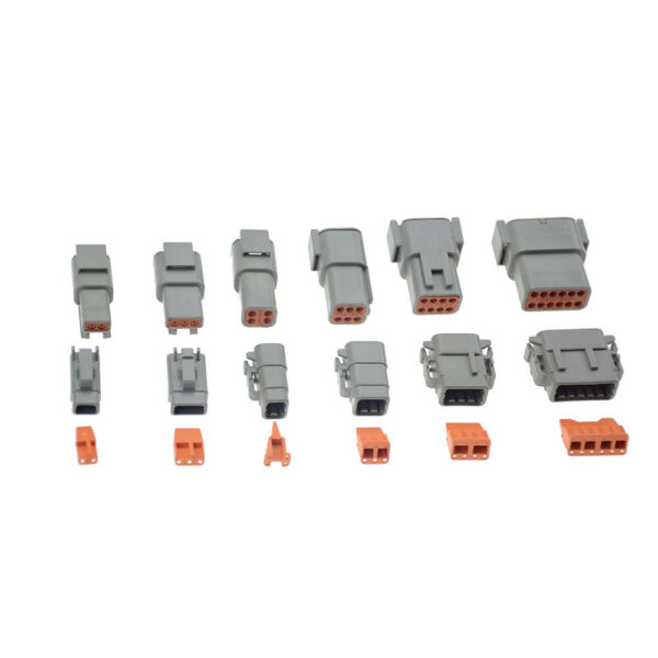 1set Deutsch DTM 2/3/4/6/8/12pin Female male  Electrical kit Wire Connector plug