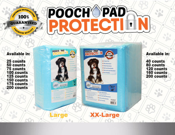 Pooch Pad Protection Training Dog Pads. Thick & Soft XTRA Absorbent Puppy Pads. $15.99