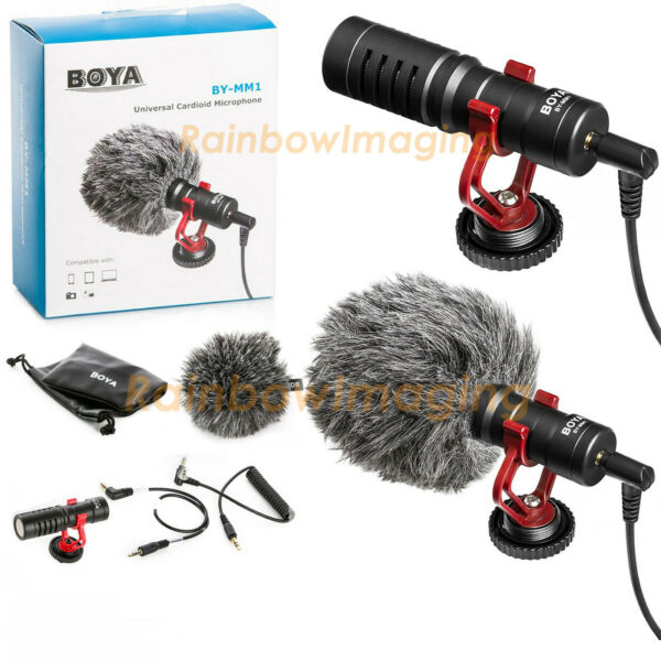 BOYA On-Camera Cardiod Shotgun Microphone MIC for Video Camera DSLR