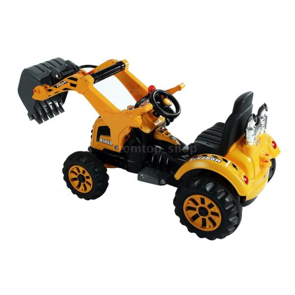 6V Kids Ride On Excavator RC Construction Tractor Vehicle Truck Toy Digger Car