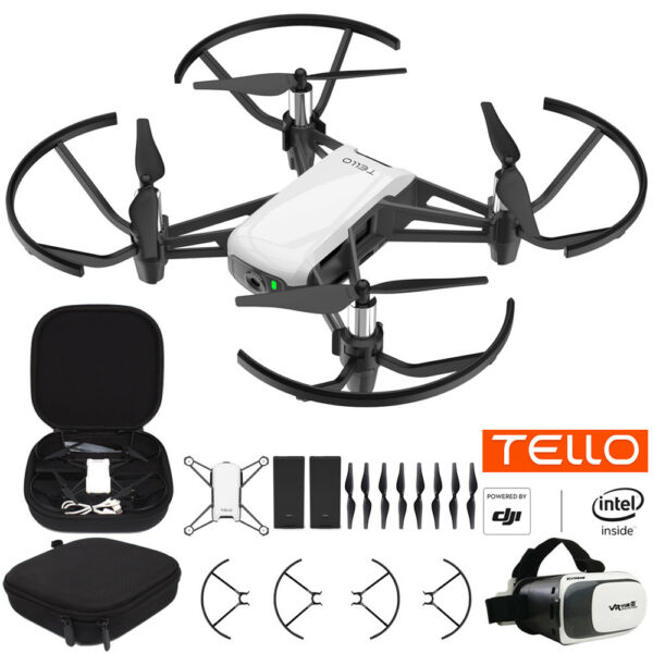 Tello Quadcopter Drone Fun Flight Bundle With Case Spare Battery