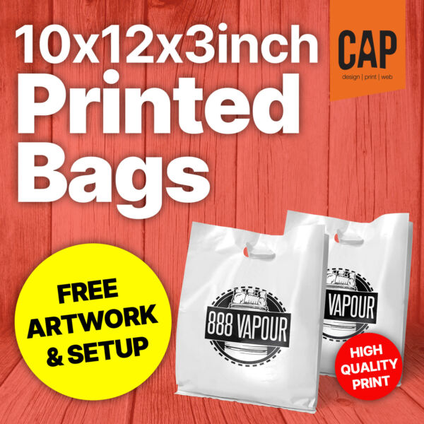 Plastic Carrier Bags  X-Small Polythene Bag with Custom Personalised Printing