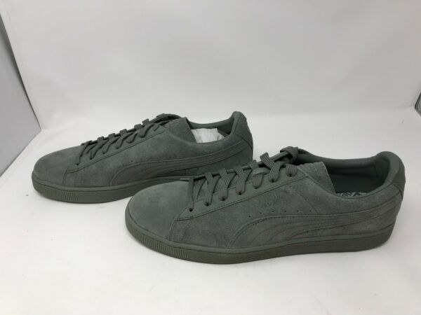 Mens Puma (362595-01) Suede Classic Tonal Agave Green Shoes  (Z14)
