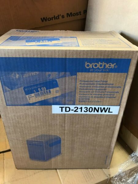 Brother TD-2130NW Wi-Fi Direct Thermal Printer - Monochrome - Desktop