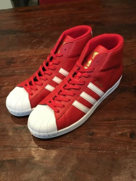 Adidas Pro Model Shoes Sneakers New BY3726 Red Size 13