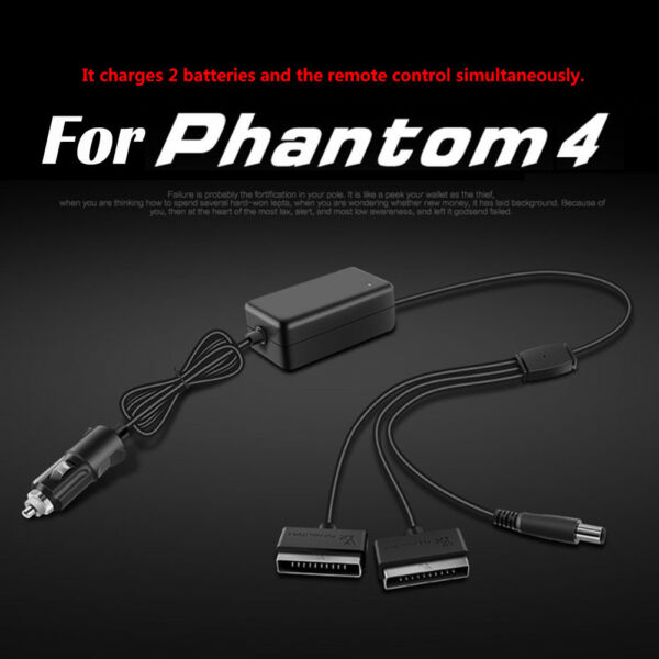 Car Charger Adapter For DJI Phantom 4 Drone Pro Professional Battery Accessories
