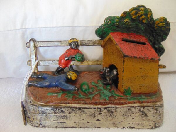 Kyser & Rex 1890 Black Boys Stealing Watermelons Around Dog House Solid Outfits