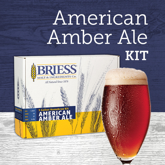 BRIESS Better Brewing American Amber Ale 5 Gallon Homebrew Beer Ingredients Kit