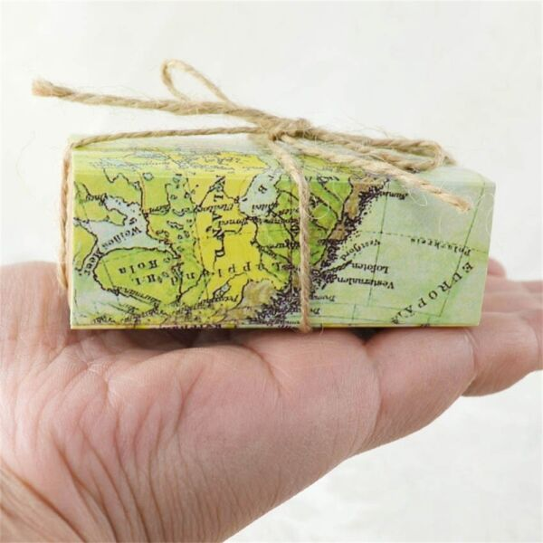50PCS Travel Theme World Map Drawer Candy Box Wedding Favors Gift Bages