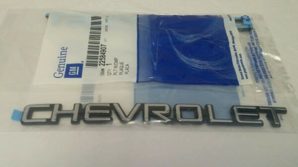 New Genuine GM Chevrolet Nameplate Emblem Chrome Truck or Car Emblem