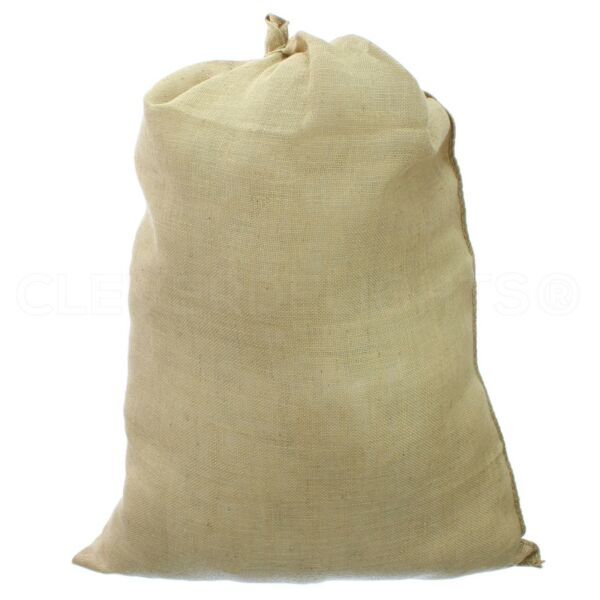 1 Natural Burlap Bag 30quot; x 40quot; Jumbo Size Gunny Sack Decor Gift
