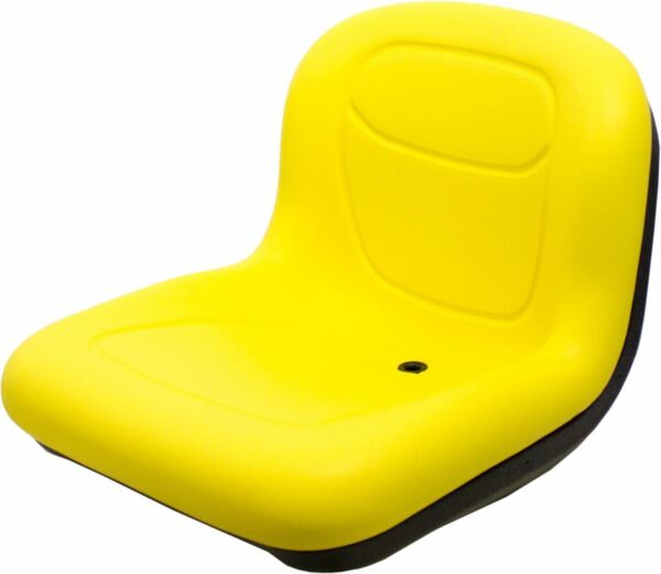 Milsco XB150 Yellow Vinyl Seat 15.5quot; Tall with Multiple Mounting Fits John Deere