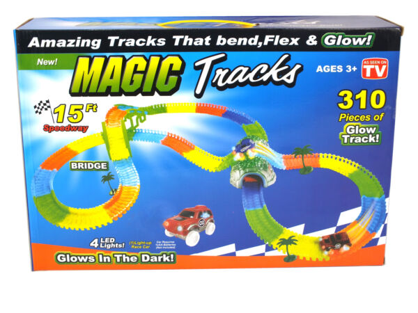 Magic Tracks SET Rennbahn Autobahn Slotcar Spielzeug Bahn 4,5 m Glow in the Dark