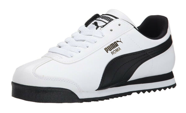 PUMA Roma Basic White, Black Mens Sneakers Tennis Shoes Item 353572 04