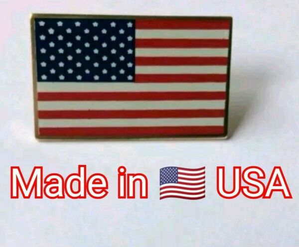NEW USA 🇺🇸 Lapel Pin Brooch America FREE SHIPPING 🇺🇲 Made in USA 🇺🇸