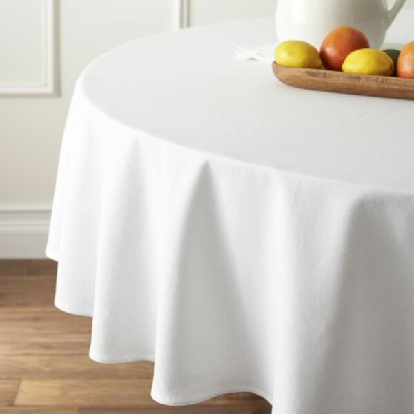 280cmx280cm Round Premium Spun Poly Table Cover Thick White Large Table Cloth