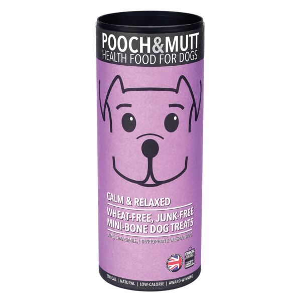 Pooch and Mutt  Calm and Relaxed Mini-Bone Dog Treats 125 g Pack of 6