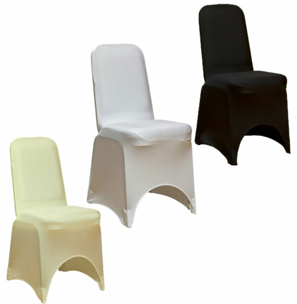 Spandex Lycra Chair Stretch Cover Wedding Party Event Decor Banquet Arched Flat