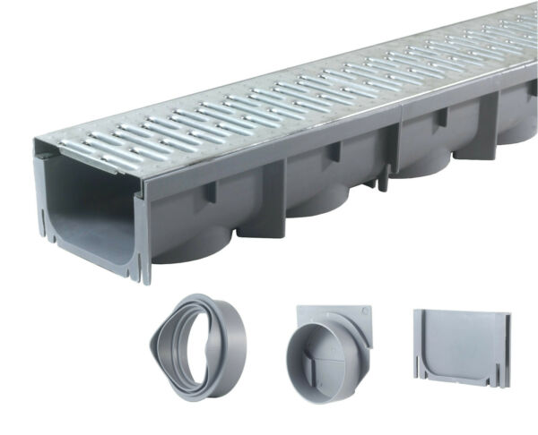 Drainage Trench Channel Drain Galvanized Steel Grate 39quot; Long