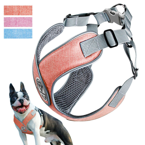 Dog Reflective Harness Soft Air Mesh Padded Harness Vest Safety Dog Chest Strap $13.99