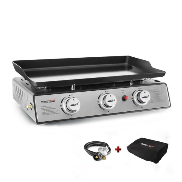 Royal Gourmet PD1301S Portable 3 Burner Table Top 24 Inch Gas Grill