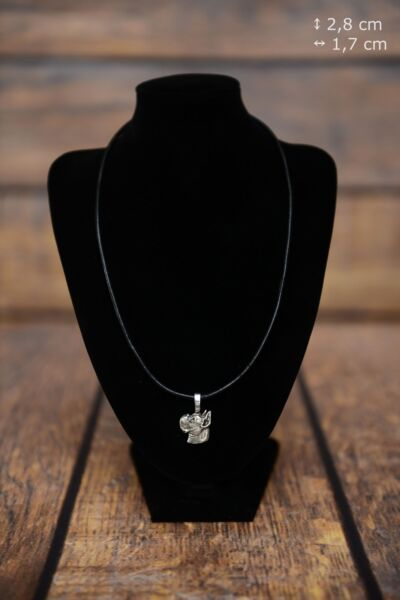 Boxer silver covered necklace with dog on strap Art Dog USA $23.68