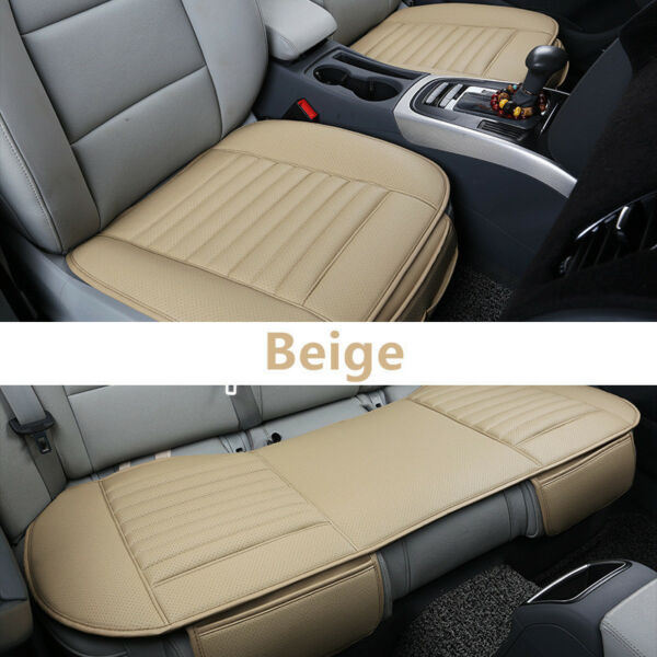PU Leather Universal 3D Car Seat Cover Breathable Pad Mat for Auto Chair Cushion